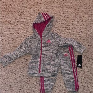 Toddler Girls adidas velour Track Suit